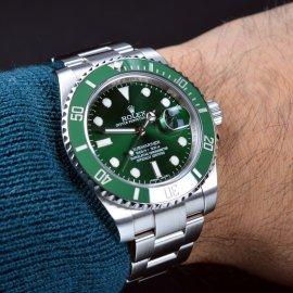 Rolex Submariner Date Green Bezel Watch , 116610LV , Ref
