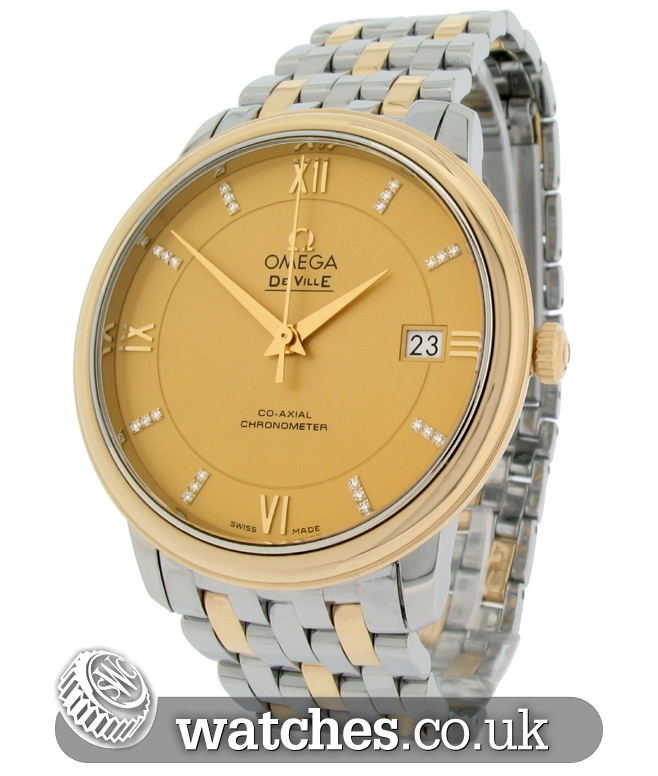 omega constellation ladies steel and 18ct yellow gold price