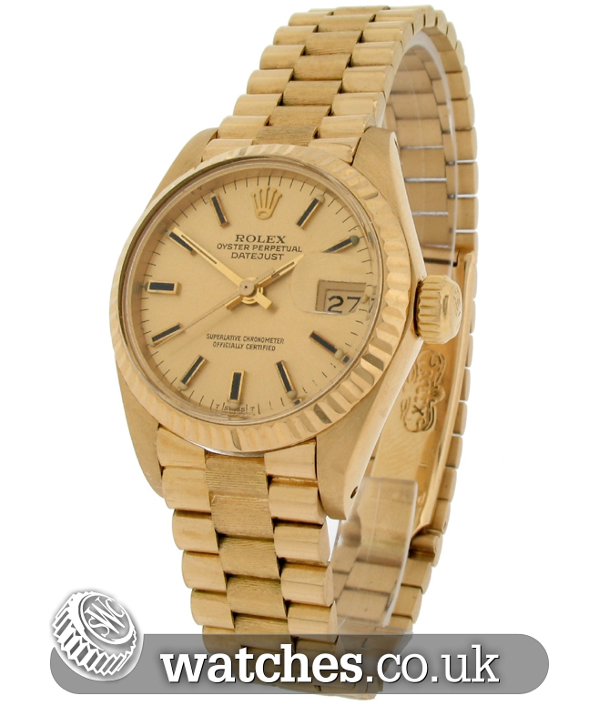 rolex datejust 18ct gold 6918 ref ro