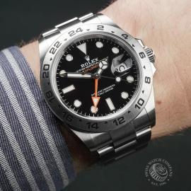 RO22474S Rolex Explorer II Orange Hand Unworn Wrist