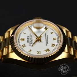 RO21030S Rolex Ladies Datejust 18ct Close8