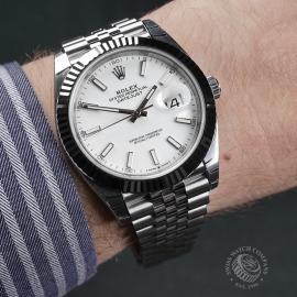 RO22350S Rolex Datejust 41 Unworn Wrist
