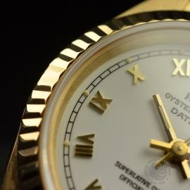 RO21030S Rolex Ladies Datejust 18ct Close6