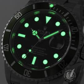 RO20926S Rolex Submariner Date Green Bezel Anniversary Close1