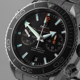 OM21024S Omega Seamaster Planet Ocean 600m Co Axial Chrono Close1