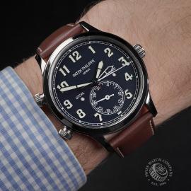 PK22383S Patek Philippe Calatrava Pilot Travel Time Wrist
