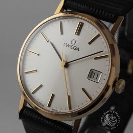 OM19632S Omega Vintage 9ct Gents Dress Watch Close1