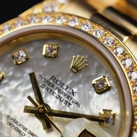 RO21016S Rolex Ladies Datejust 18ct Close5