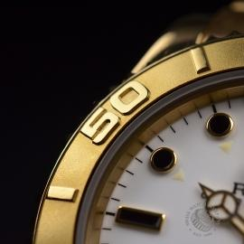 RO21031S Rolex Yachtmaster Mid Size 18ct Close8