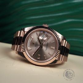 RO22329S Rolex Day-Date 40 Everose Diamond Unworn Close10