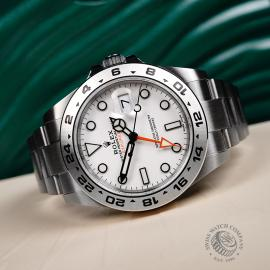 RO22297S Rolex Explorer II Orange Hand Unworn Close2