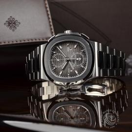 PA21109S Patek Philippe Nautilus Travel Time Chronograph Close10