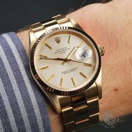 RO22533S Rolex Date 18ct Gold Wrist