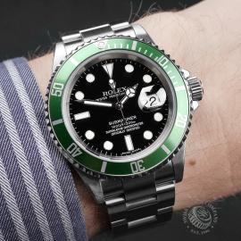 RO1958P Rolex Submariner Green Bezel Wrist