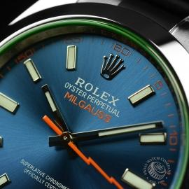 RO21189S Rolex Milgauss Anniversary - Green Glass Close5 1