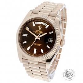 RO221147S Rolex Day-Date 40 Everose Diamond Back