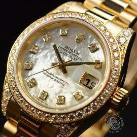 RO21016S Rolex Ladies Datejust 18ct Close2