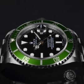RO20926S Rolex Submariner Date Green Bezel Anniversary Close8
