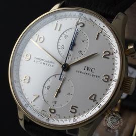 IW22062S IWC Portuguese 18ct Chronograph Close1