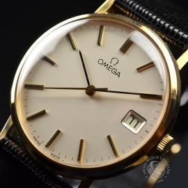 OM19632S Omega Vintage 9ct Gents Dress Watch Close2