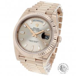 Rolex Day-Date 40 Everose Diamond Unworn