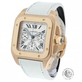 Cartier Santos 100 XL Rose Gold Chrono