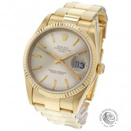 RO22533S Rolex Date 18ct Gold Back