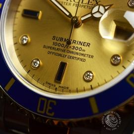 RO20657S Rolex Submariner Date Diamond and Sapphire Dial Close5