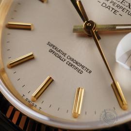 RO22533S Rolex Date 18ct Gold Close6