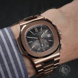 PK22578S Patek Philippe Nautilus Chronograph Rose Gold Wrist