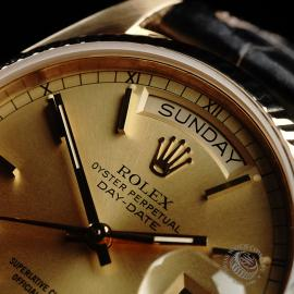 RO21796S Rolex Vintage Day-Date 18ct Close3 1