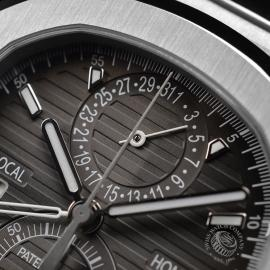 PA21109S Patek Philippe Nautilus Travel Time Chronograph Close5