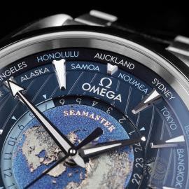 OM22669S Omega Seamaster Aquaterra Worldtime Close3