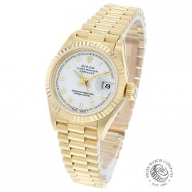 RO21030S Rolex Ladies Datejust 18ct Back