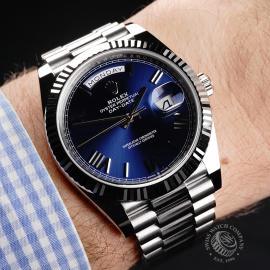 RO22142S Rolex Day-Date 40 White Gold Unworn Wrist