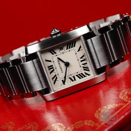 CA21842S Cartier Tank Francaise Midsize Close11