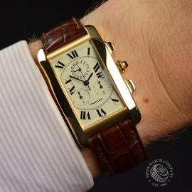 CA21073S Cartier Tank Americaine Chronograph Wrist