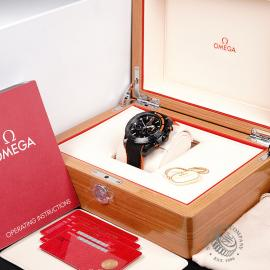 OM22262S Omega Seamaster Planet Ocean Chronograph 'Deep Black' Box