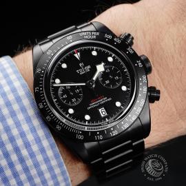 TU22227S Tudor Heritage Black Bay Chronograph Dark Wrist
