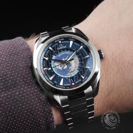 OM22669S Omega Seamaster Aquaterra Worldtime Wrist