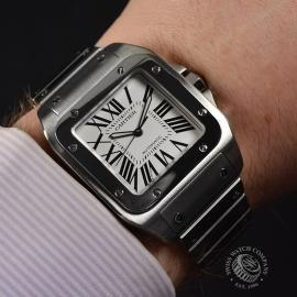 20956S Cartier Santos 100 Wrist 1