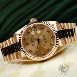 RO21949S Rolex Datejust 18ct Mid-Size Close11
