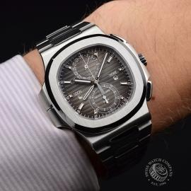 PA21109S Patek Philippe Nautilus Travel Time Chronograph Wrist 1