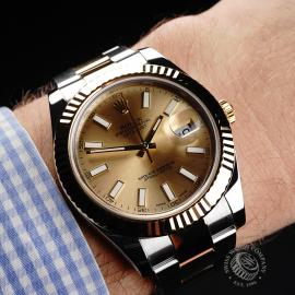 RO1933P Rolex Datejust II Wrist