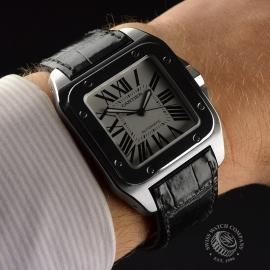 CA1820P Cartier Santos 100 Wrist 1