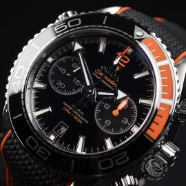 OM21294S Omega Seamaster Planet Ocean 600m Co Axial Chrono Close2