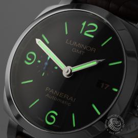 PA21799S Panerai Luminor 1950 3 Day GMT Close1
