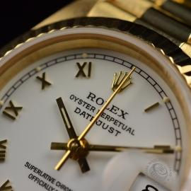 RO21030S Rolex Ladies Datejust 18ct Close4