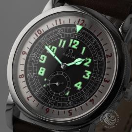 OM21673S Omega Museum Collection 1938 Pilots Watch Close1