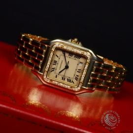 1863F Cartier Ladies Panthere 18ct Close10